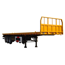 2 Axle 3 Axle 40 Ft 20 Footer Container Semi Trailer Chassis Flat Bed Flatbed Trailer for Sale Truck Trailer Steel 6 Tons Appr