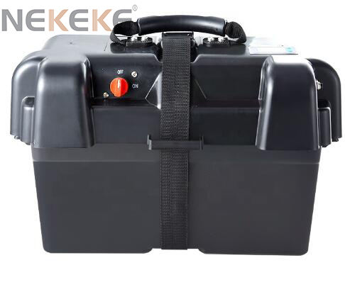 NEKEKE Camping boat Car Marine Plastic 12V Waterproof battery box