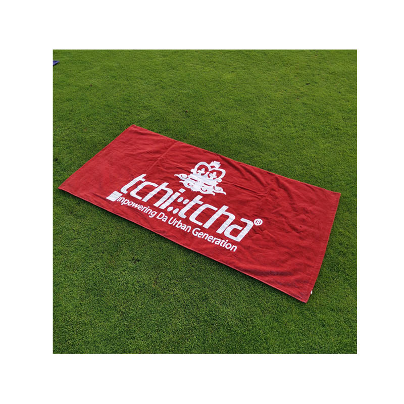 Digital printed personalized towels 100% cotton custom beach towel with logo