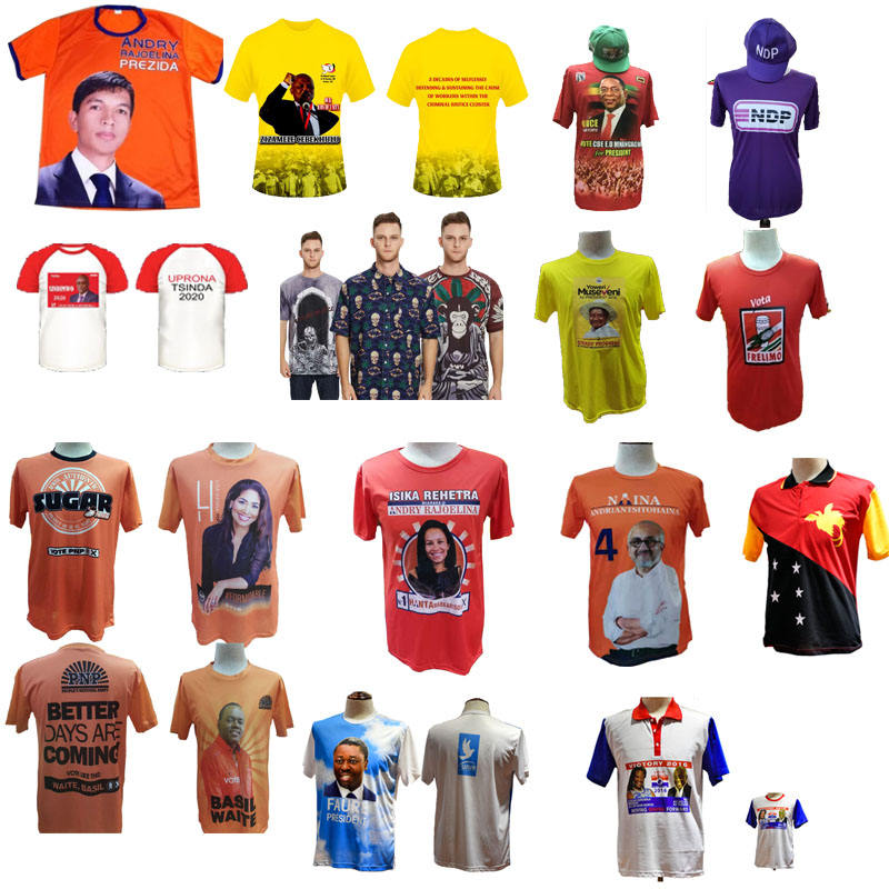 Tshirt Printing Election And Promotion Dry Fit O-Neck T Shirt With Full Color Sublimation Printing Wholesale OEM ODM Made In China