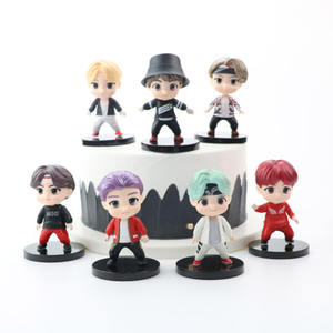 7 pcs Bangtan Boys figures BTS Tiny Tan action figures doll toy for kids gifts cake topper and decoration