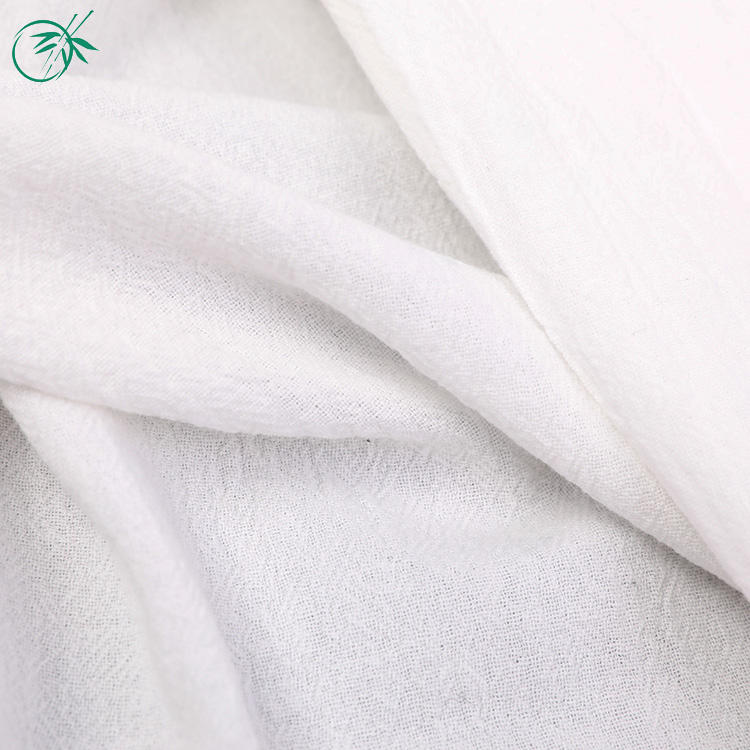 China product textile material cloth white 100% cotton crepe fabric for children's wear