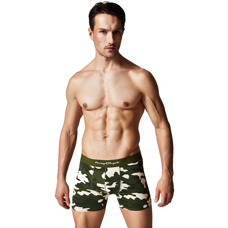 Custom printed organic cotton mens underwear boxers briefs trunks manufacturing