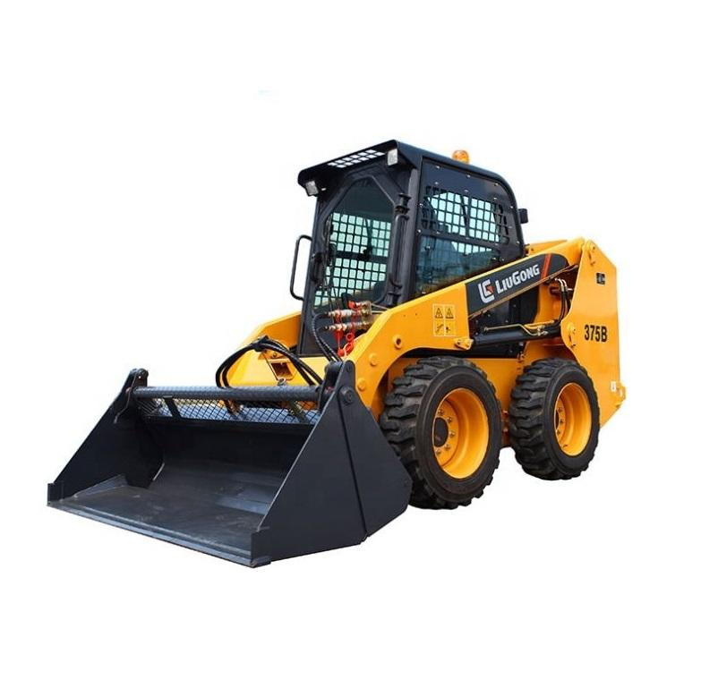 3.5Ton Liugong Mini Skid Steer Loader 375Aในสต็อก