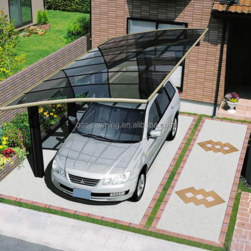 sunshade polycarbonate block carport canopy Garage shed