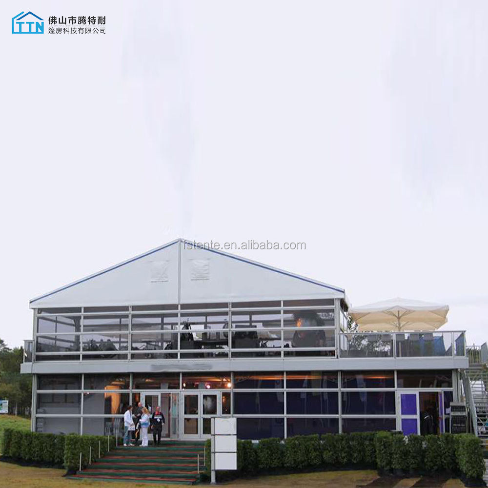 Luxury business Large event banquet Double deck tent with Glass Windows and Doors