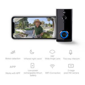 Wireless Wifi link to tuya app video door phone intercom  1080P FHD CMOS camera  motion detection  villa home security systems
