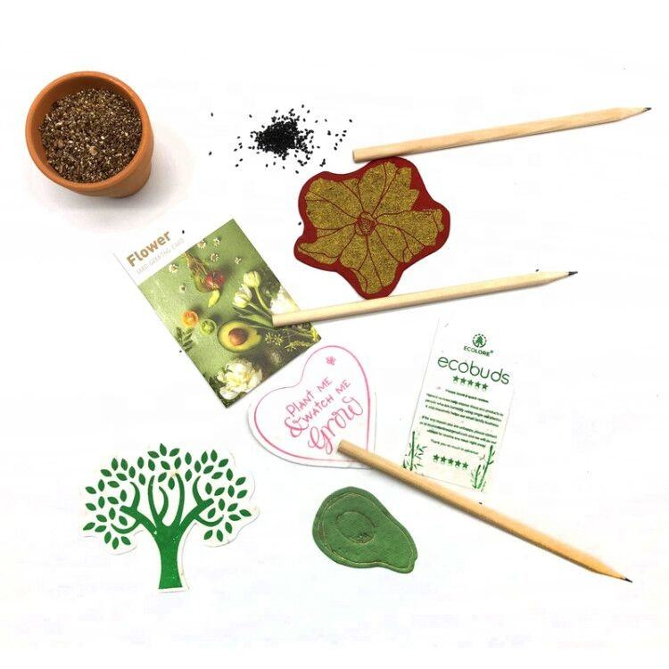 2020 Natural Herbs Pencil,Seed Pencil with Pottery Pot