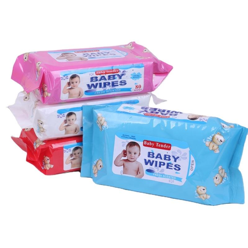 Wholesale OEM Hand And Face Cleaning Baby Tender Wiper Paper Wet Tissue