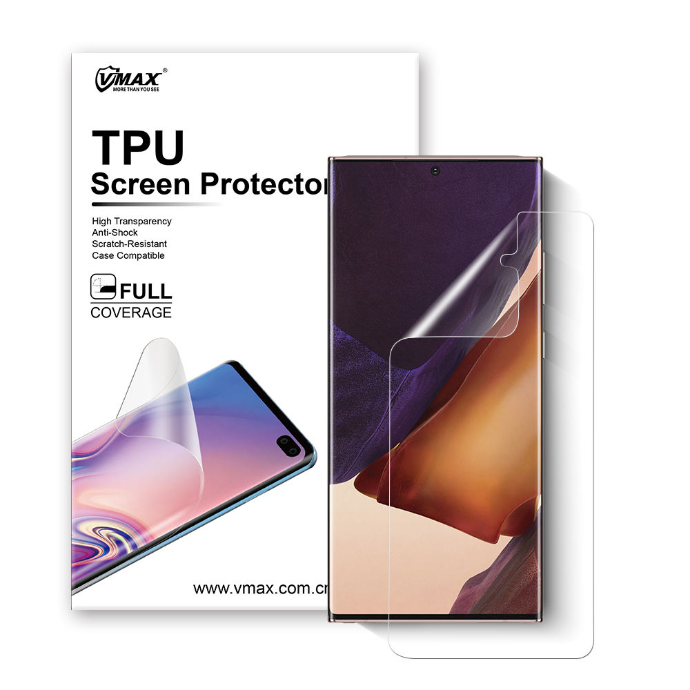 Factory price Mobile phone accessories TPU for samsung galaxy note 20 plus screen protector with detail package