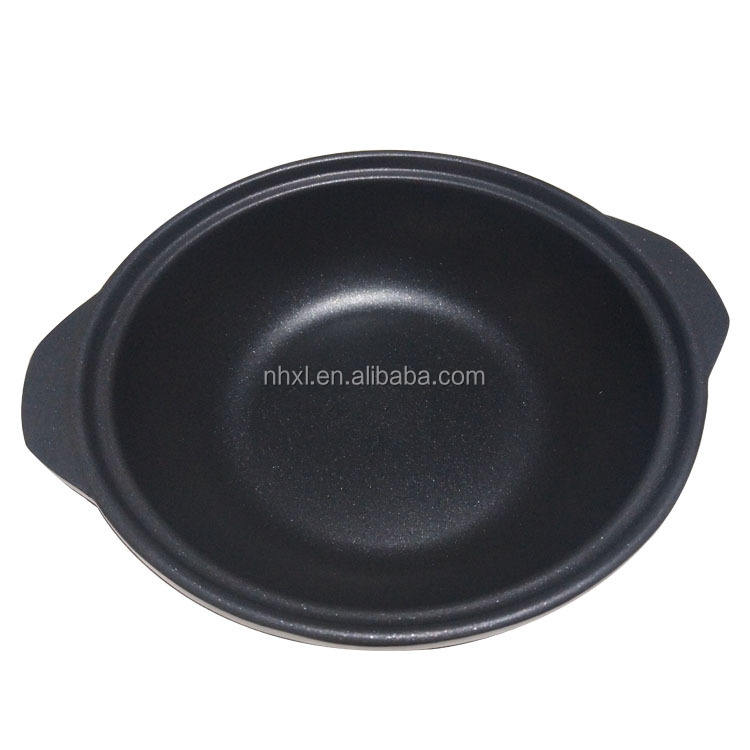 Customized Die Casting Cookware Black Kuroganec Metal Casserole With Lid