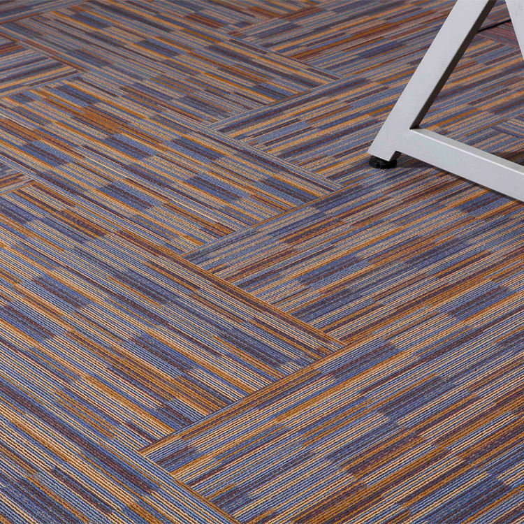 Wholesale Price patent Click System Vinyl plank flooring Plastic Carpet design Office Use better quality than SPC