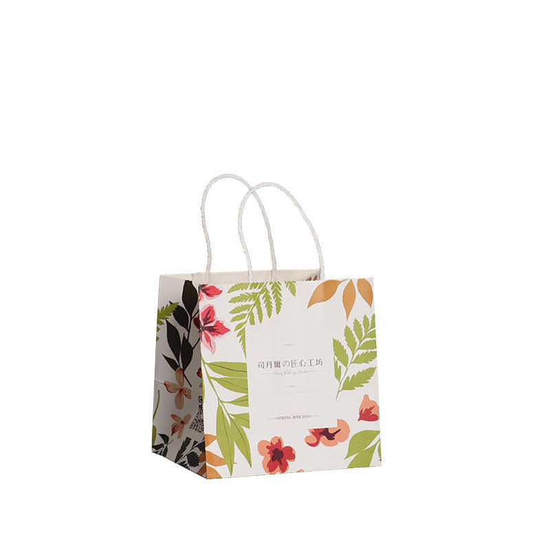 China good supplier wholesale customized shopping bag colored paper rope handle kraft paper bag
