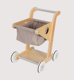 Wooden children's shopping cart toy boys and girls simulation supermarket cart through each kitchen toy set
