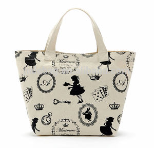 Fast delivery custom printed logo women eco cotton canvas shopping tote bag
