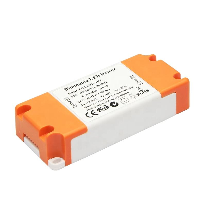 boqi triac dimmable led driver 350ma 18w CE SAA listed