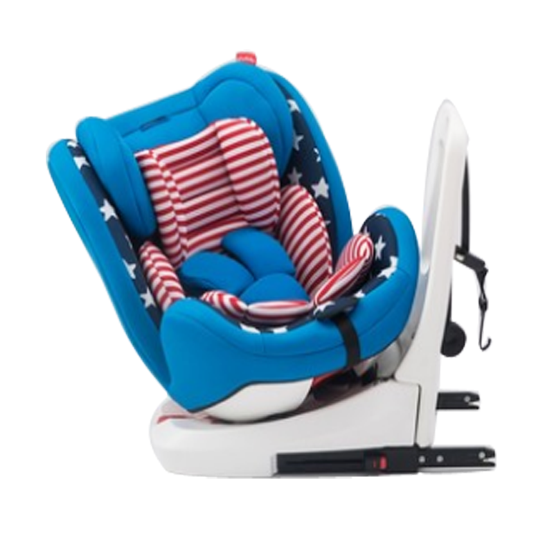 ECE Injection model skeleton best quality 360 degree rotating baby car seat with luxury ISOFIX + softness fabric cover