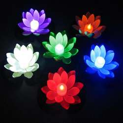Wholesale Outdoor Led Garden Lights Pond Decoration Lotus Pr
