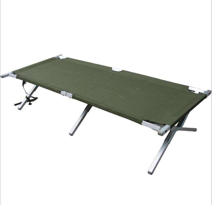 2021 Outdoor Militaire Vouwen Camping Bed Draagbare Army <span class=keywords><strong>Metalen</strong></span> Camping Slapen Cot