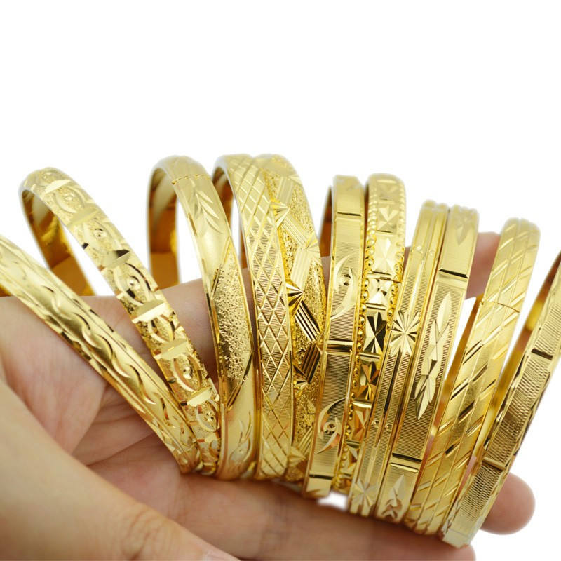 Ethlyn Fashion Dubai Gold Jewelry Gold Color Bangles for Ethiopian Bangles & Bracelets Ethiopian Jewelry Bangles Gift B01