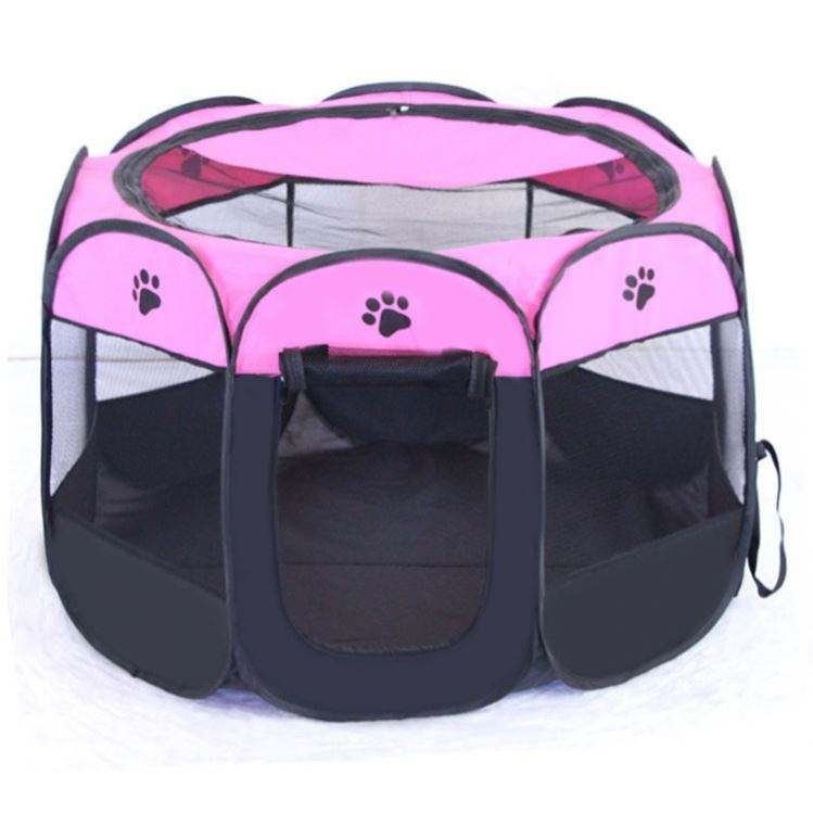 Portable Foldable Pet Dog Playpens, Soft Exercise Pen Kennel with Carry Bag for Puppy Cats Kittens Rabbits