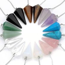 Fengshui gift pendulum in crystal mixed gemstone pendulum