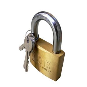 High quality square type brass padlock with master keys