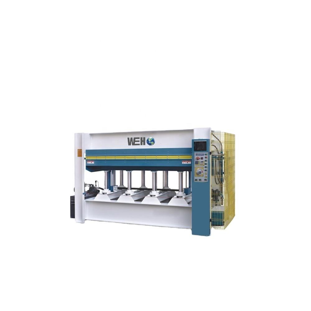 Wood laminate machine door hot press