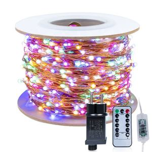 Remote colorful house fairy led lights 100 meter Outdoor Christmas lighting mini garland string light 100m