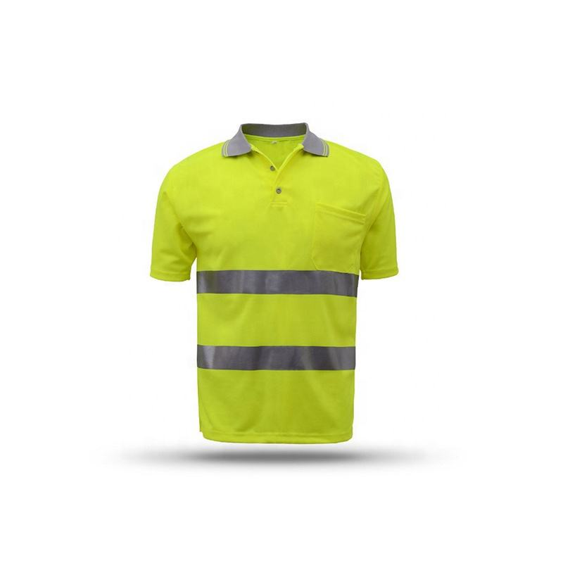 Polo [ T-shirts ] Safety T-shirt New Design Mesh Printed Safety High Visibility Safety Polo T-shirts
