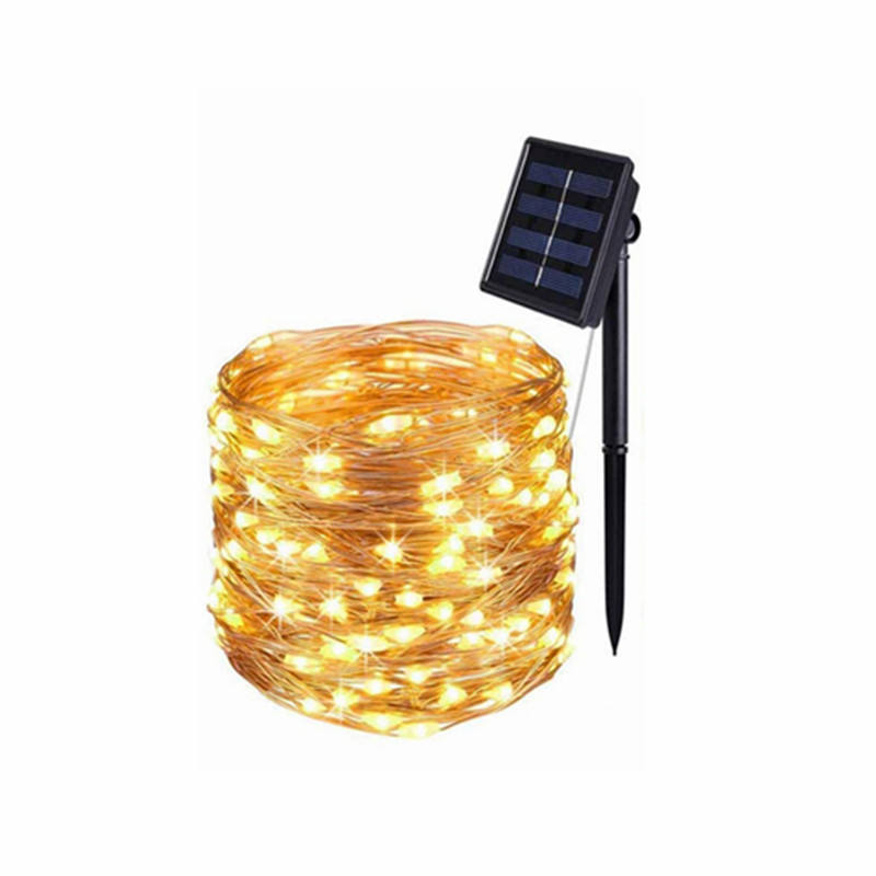 Mini 10M 33Ft 100 Led Warm White Home Garden Patio Wedding Christmas Party Decoration Solar Lights Indoors