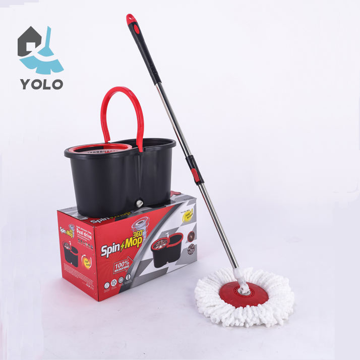 Classic design black PP mop and bucket 360 spinning mop
