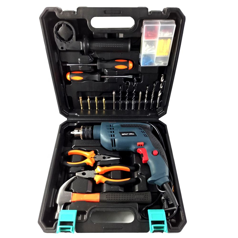 100pc Household tools set 500 W High speed 13mm drill Heavy duty Hand Electric Impact Drill Kit