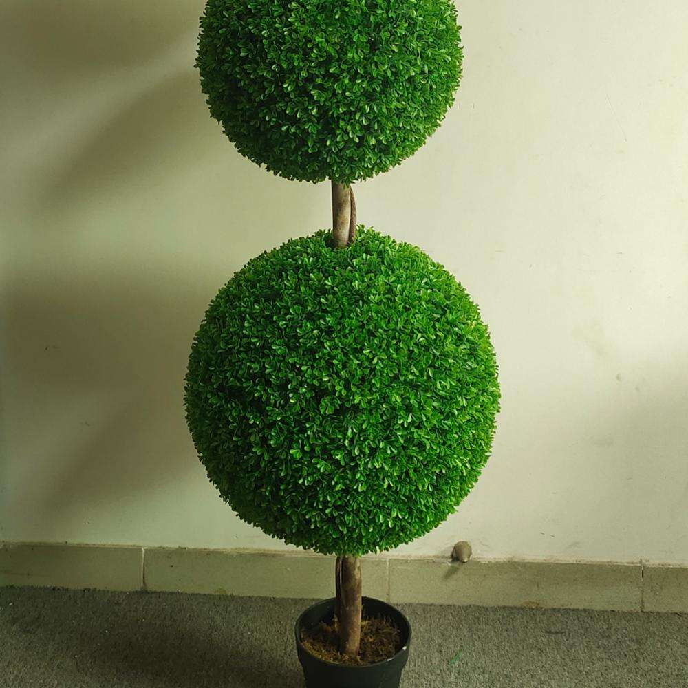 Nearly Natural Plants Artificial Indoor Boxwood Topiary Ball Trees 180cm China