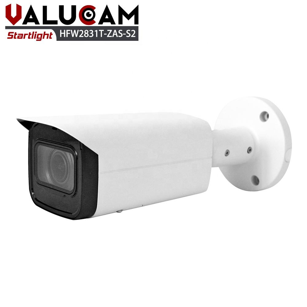 Valucam DH 2 4 5 8 Megapixel Mega Pixel H.265 IP67 Varifocal Auto Zoom Wide Angle Mall Construction with Memory Card IP Camera