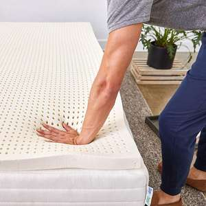 queen size Pure Green 100% Natural Latex Mattress Topper