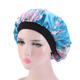 Muslim Women Night Sleep Cap Satin Elastic Bonnet Hat For Hair Care Head Cover Adjust Hair Loss Hat Beanies