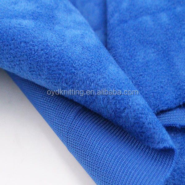 100% Polyester Tricot Aloba Fabric/Speckled Velvet
