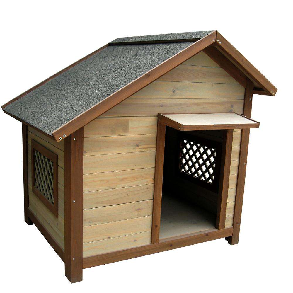 Outdoor Solid Fir Wood Dog House Kennel Waterproof Dog Cage for Small Medium Large Dogs Cats House