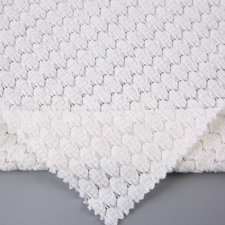 popular sale jacquard 100% polyester knitted fabric chenille price per meter