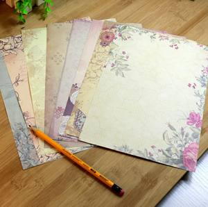 Rose Flower Writing Letter Paper Stationery Vintage Student Classic Stationery