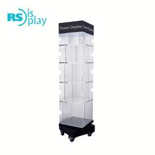 Rotating Acrylic Floor Display Stand for Book Store