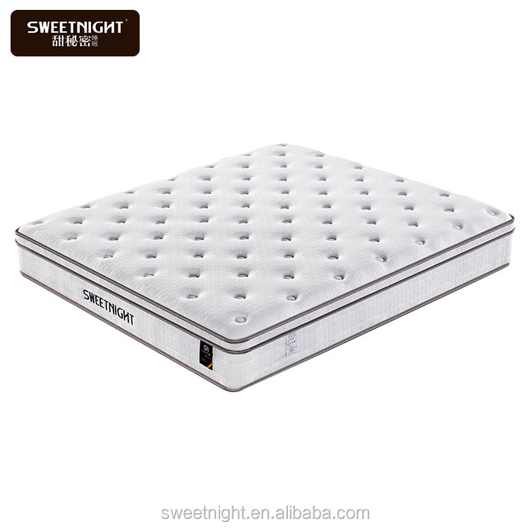Foshan new design High density foam anti-slip fabric mattress pocket spring toppers sizes with cheap price memory foam