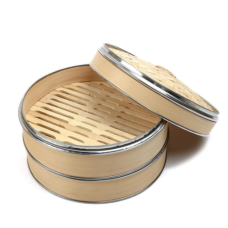 Premium stainless steel bamboo steamer for sale