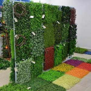 Artificial Grass Wall Plant Mat 50X50 60X40 Follaje Artificial Para Pared For Indoor Decoration