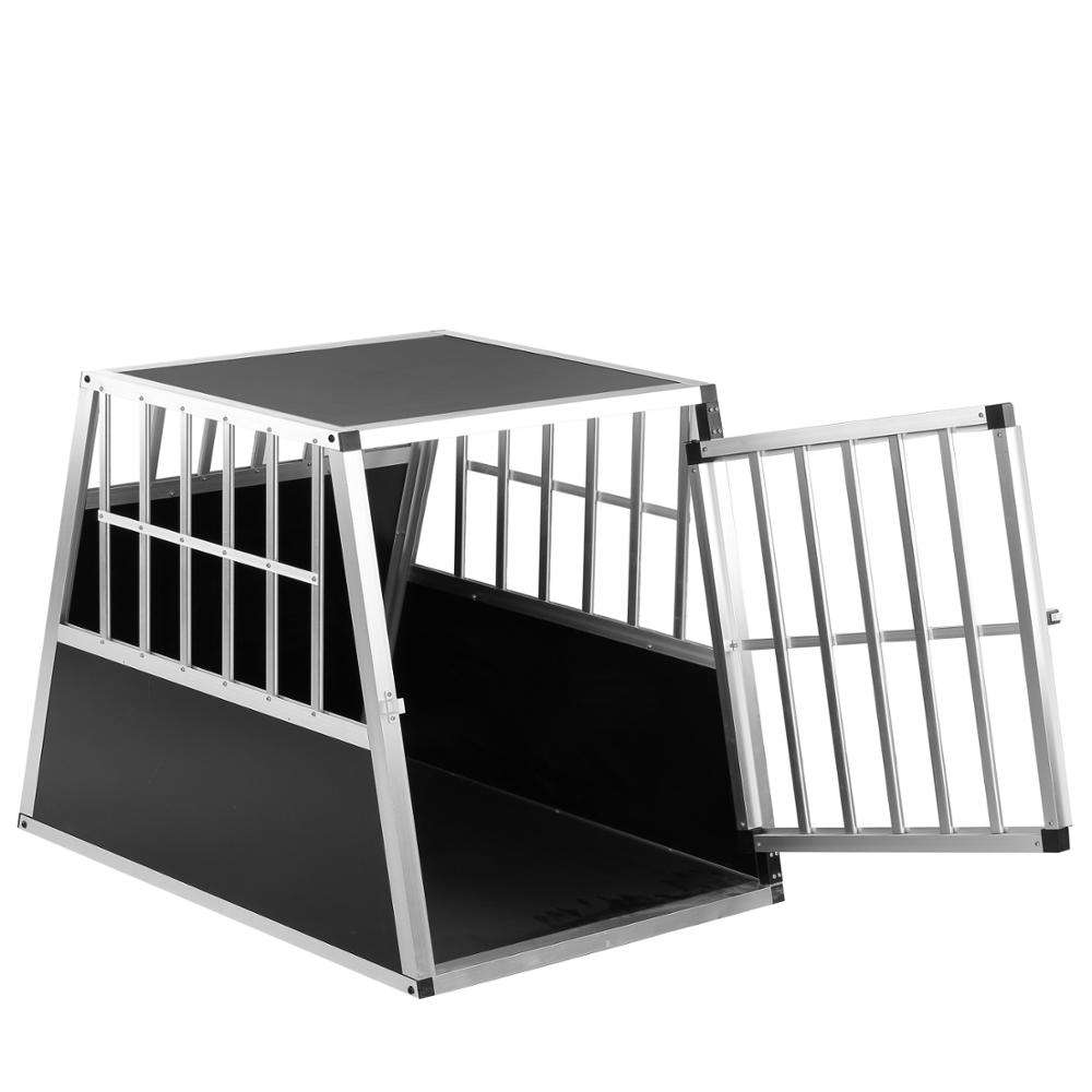 Assembly *1 Single Door Dog Car Cage, Wholesale Aluminium Dog Cage