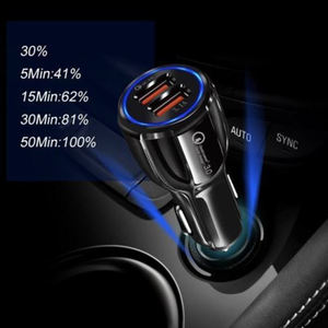 Car Accessories 3.1A QC 3.0 fast charging Dual Usb Car Charger Adapter With 2 Usb