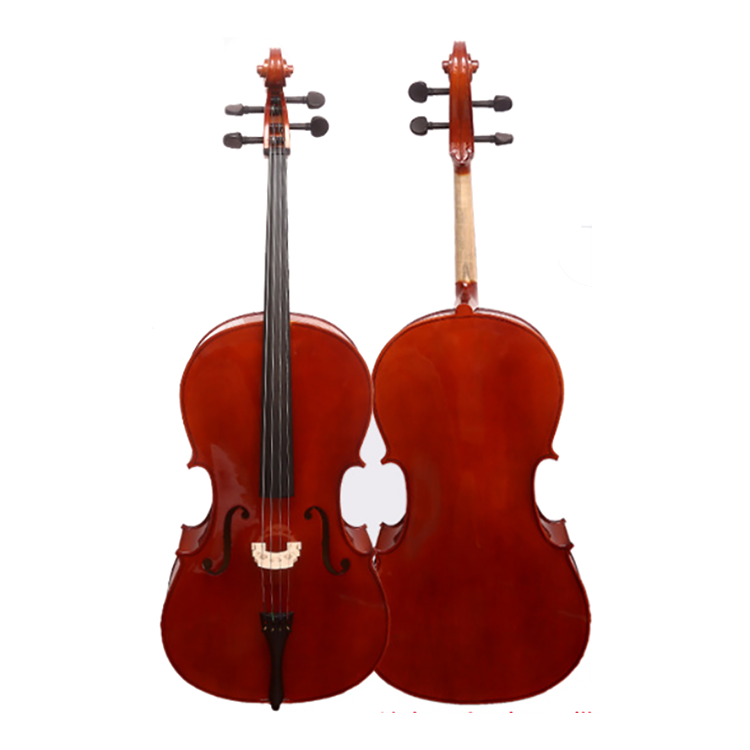 High Quality Brown Professional 4/4 Full Size Basswood Cello Set