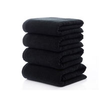 Cotton Salon Towel 16S 40x80cm Black Hair Towel for Beauty Salon
