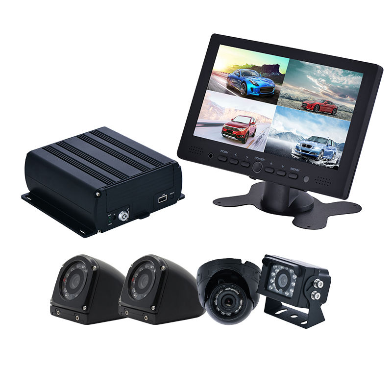 HD Bus security audio video monitoring system with 3G 4G WIFI GPS tracking